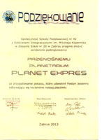 Dyplom Planet Expres